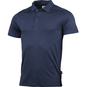 Lundhags Gimmer Merino Light Polo Tee Men deep blue